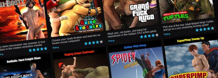 Play gay pardoy cartoon porn games with gay cartoons
